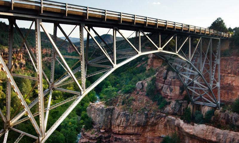 Midgley Bridge over Oak Creek Canyon in Sedona Arizona