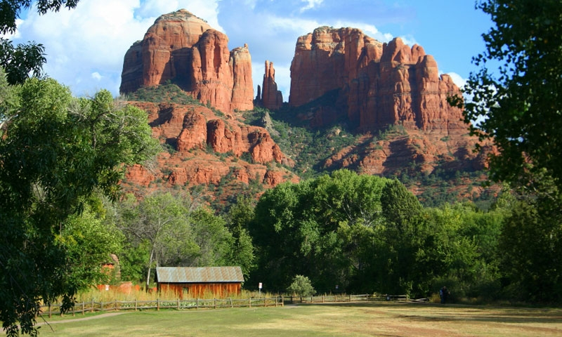 Cathedral Rock as seen from Red Rock State Park