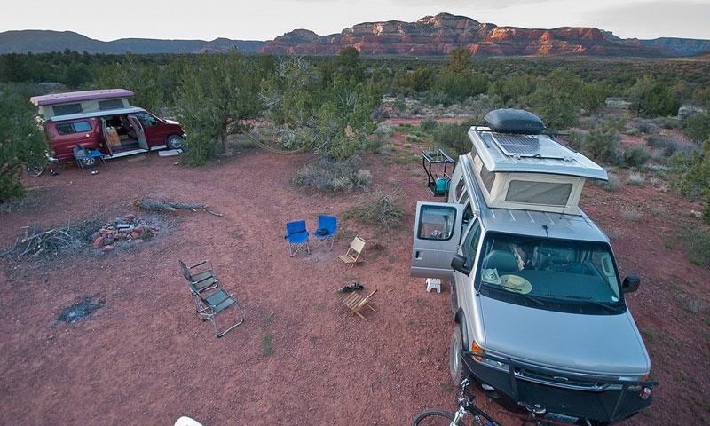Sedona arizona campgrounds alltrips for Camping and fishing in arizona