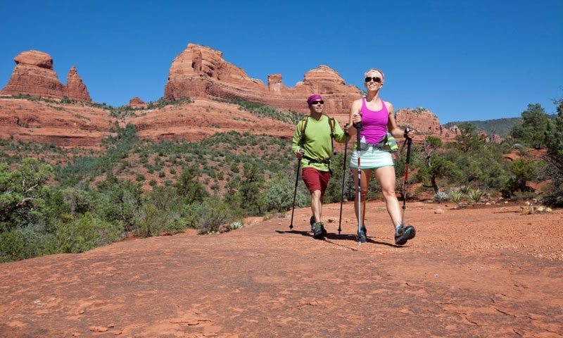 Couple hiking in Sedona