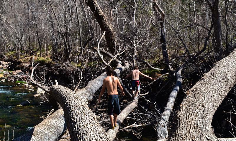 Hiking near Fossil Creek in Sedona