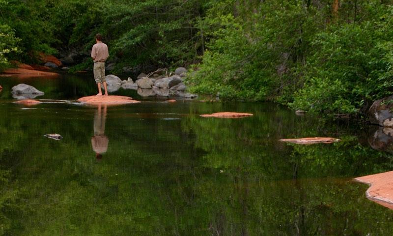 Fishing Oak Creek Canyon in Sedona