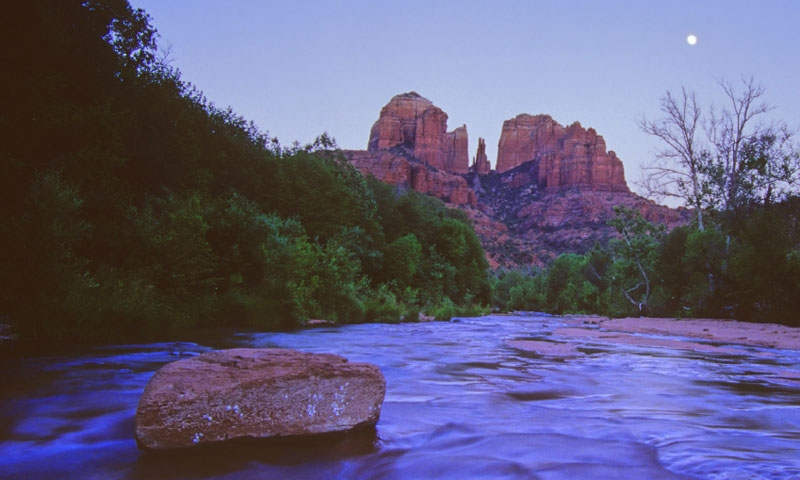 Cathedral Rocks and Oak Creek in Sedona Arizona