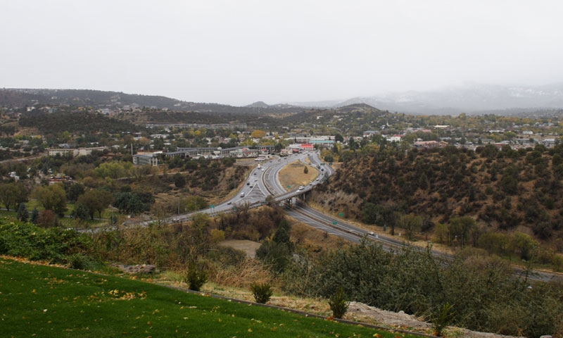 Overlooking Prescott on a Cloudy Day