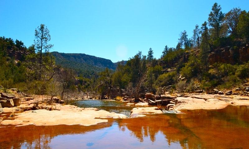 Fossil Springs Waterfalls Sedona Arizona Hiking Trail Sandstone Flats
