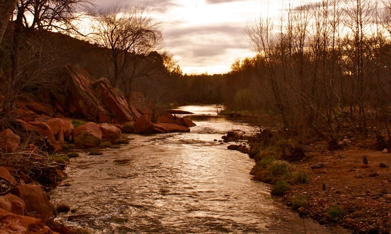 Sunset Sedona Arizona Oak Creek